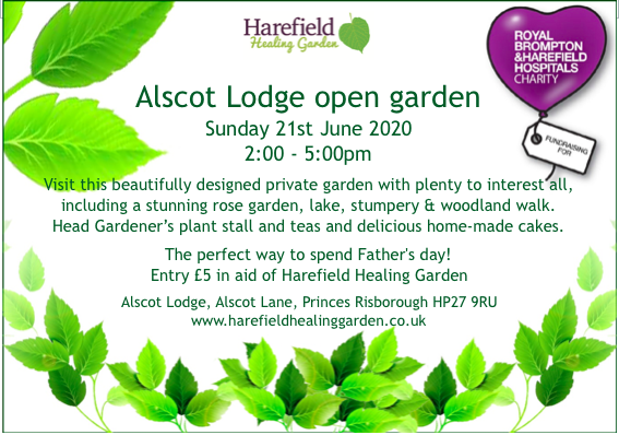 Alscot Lodge open garden 2020 – Due to COVID19 the open garden has been postponed to date TBA…